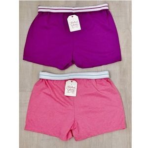 Faded Glory Bottoms - NWT Set of 2 Girls' Cheer Dance Shorts L Smile